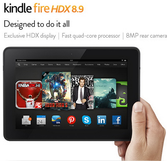 New Kindle Fire HDX Tablet