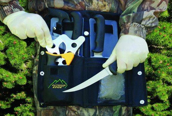 Outdoor Butcher Kit With Belt Scabbard