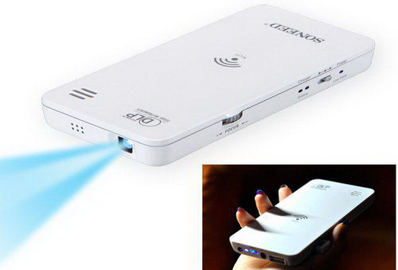 Portable mini hd wireless wifi dlp projector for iphone for Best wireless mini projector